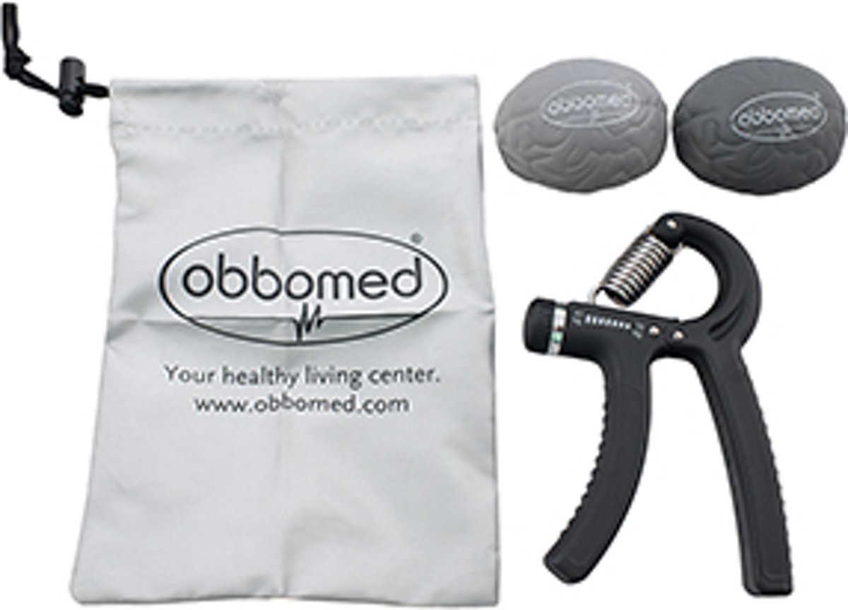 ObboMed FY-1330 trainingsset om je handen, vingers, onderarm en pols te trainen. 1 verstelbare handtrainer (belasting instelbaar van 10-40 kg) + 2 weerstandsballen + opbergzak kopen