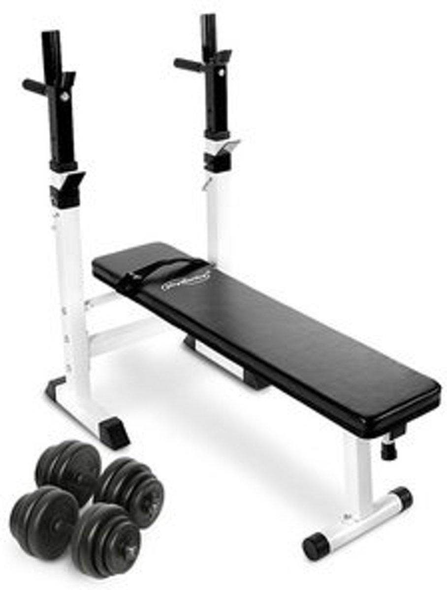 Trend24 - Fitnessbank gewichtheffen met dumbbells 30 kg kopen