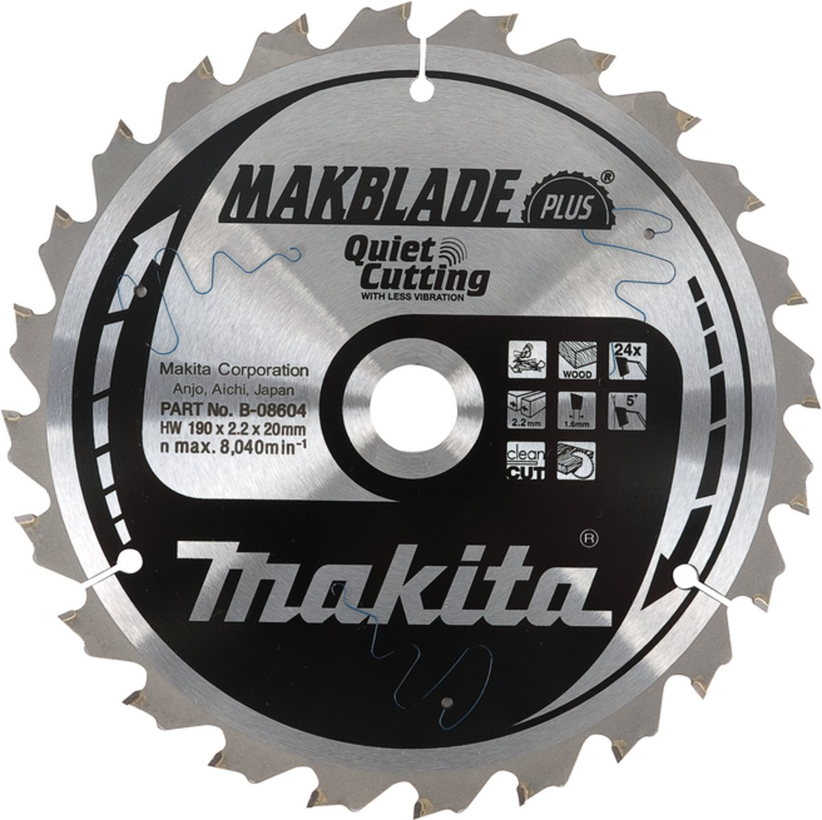 Makita B-08682 Zaagb Q+C 255x30x2,3 60T 5g