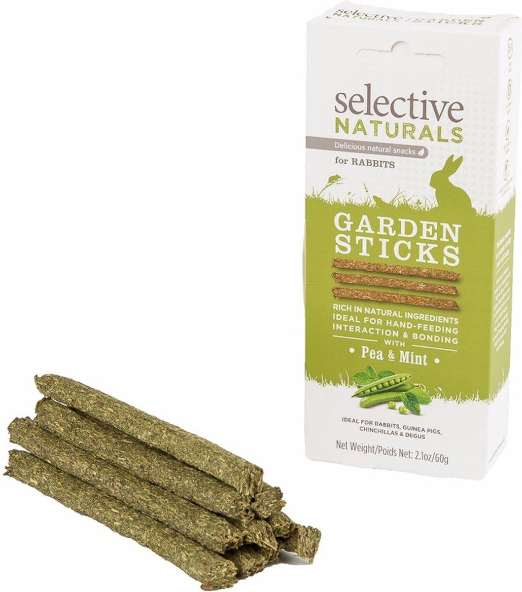 Supreme Selective Naturals Garden Sticks - Konijn - Snack - 8 x 60 gr