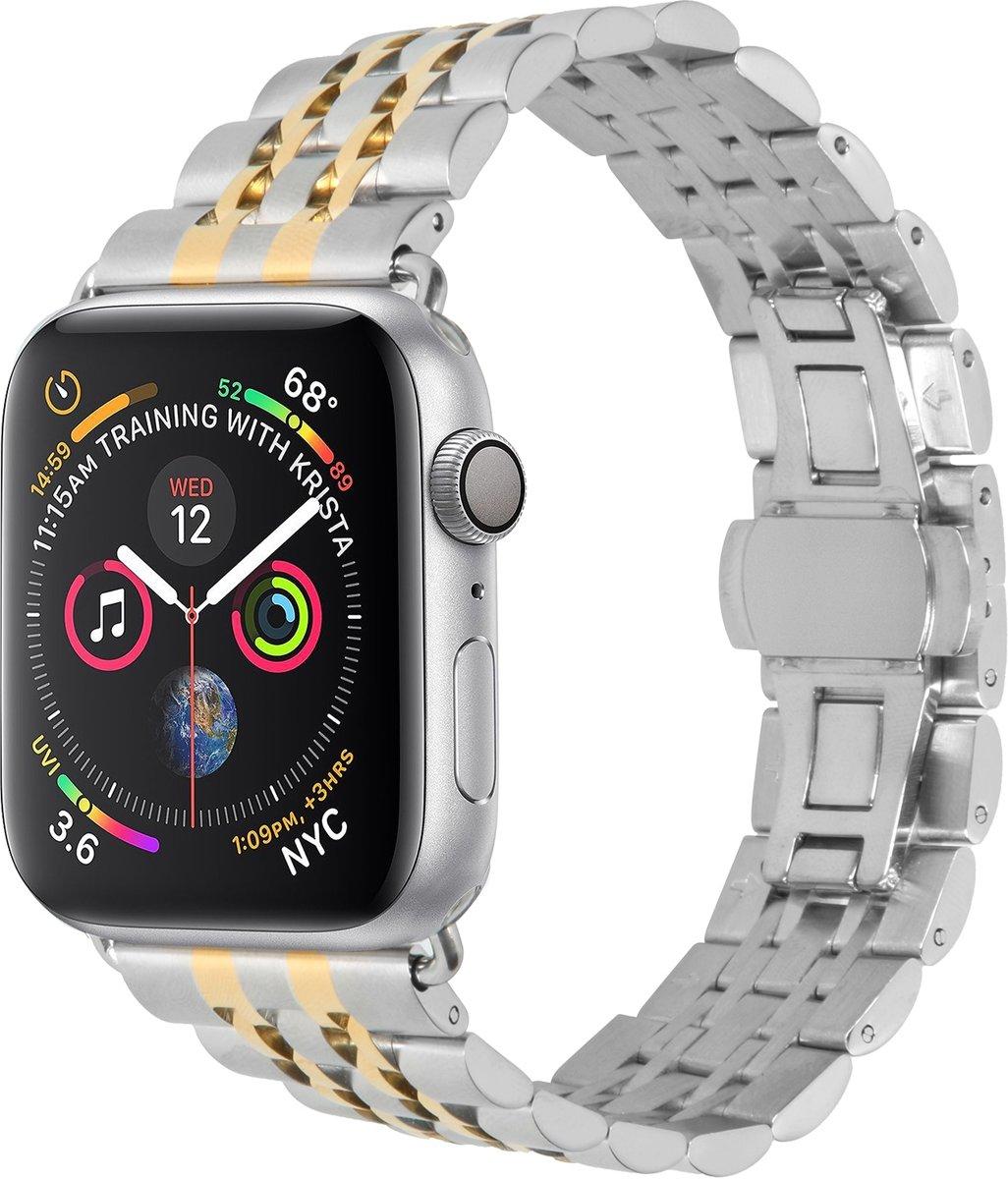 Gouden Stainless steel watch band voor de Apple Watch 44 mm / 42 mm kopen