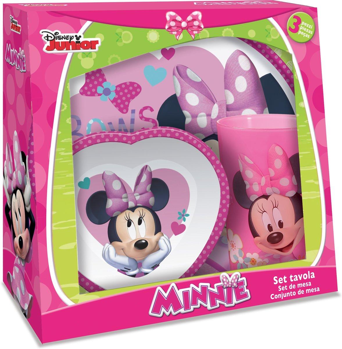 Disney Serviesset Minnie Mouse 3-delig Wit/roze