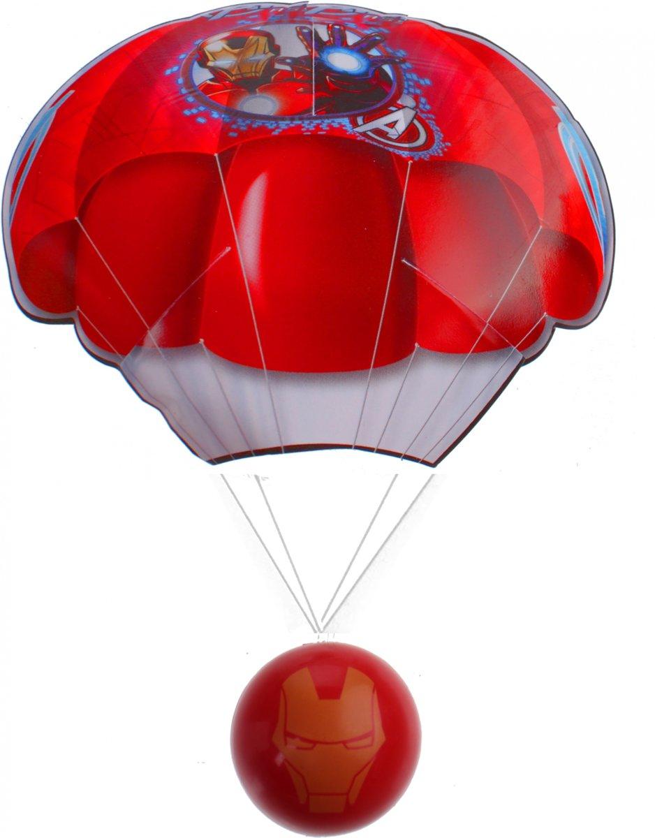 Marvel Parachute Avengers Ironman 54 Cm Rood