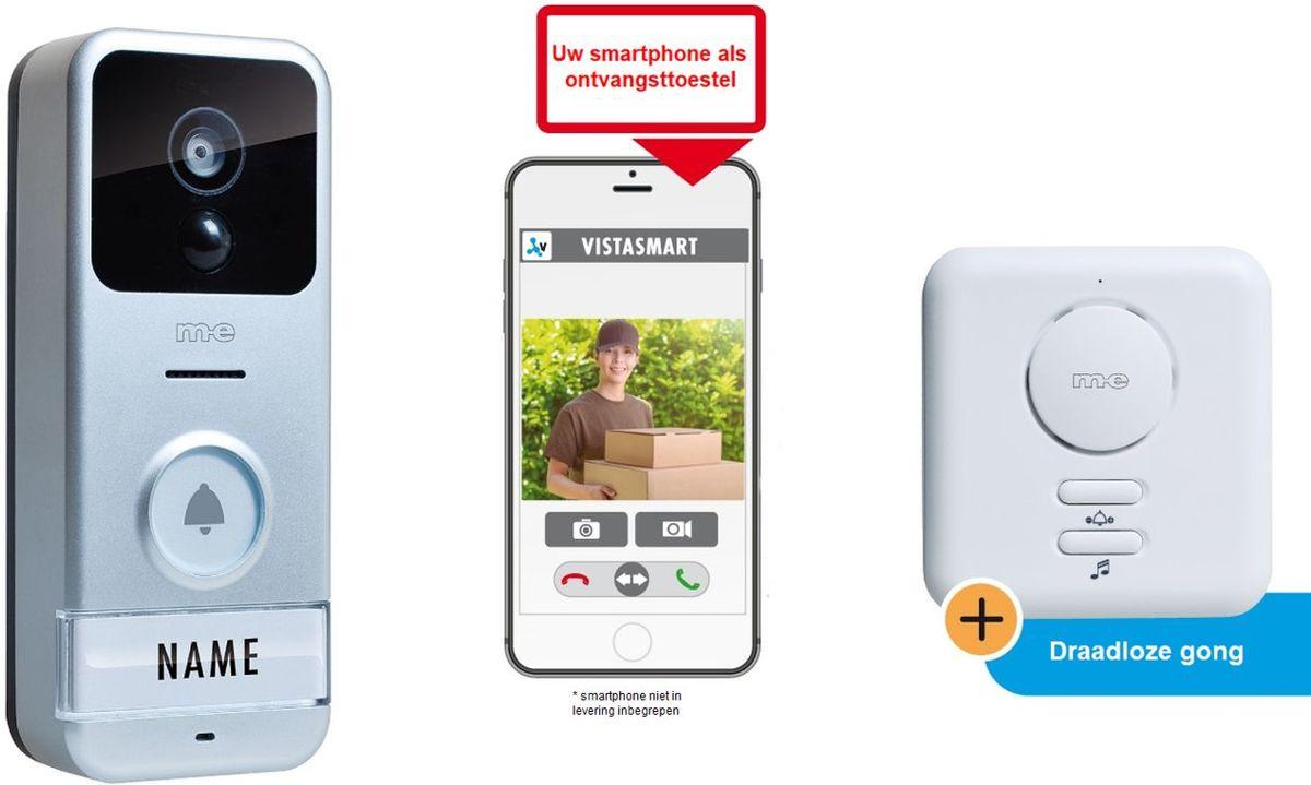 M-E VS-B10 Draadloze Wi-Fi VIDEO DEURINTERCOM voor gebruik met uw SMARTPHONE kopen