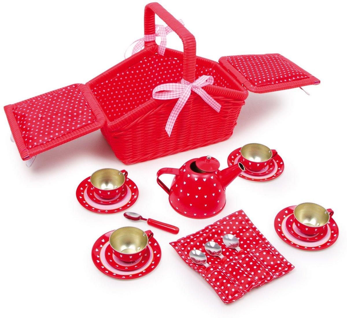 Picknickmand met kinder servies