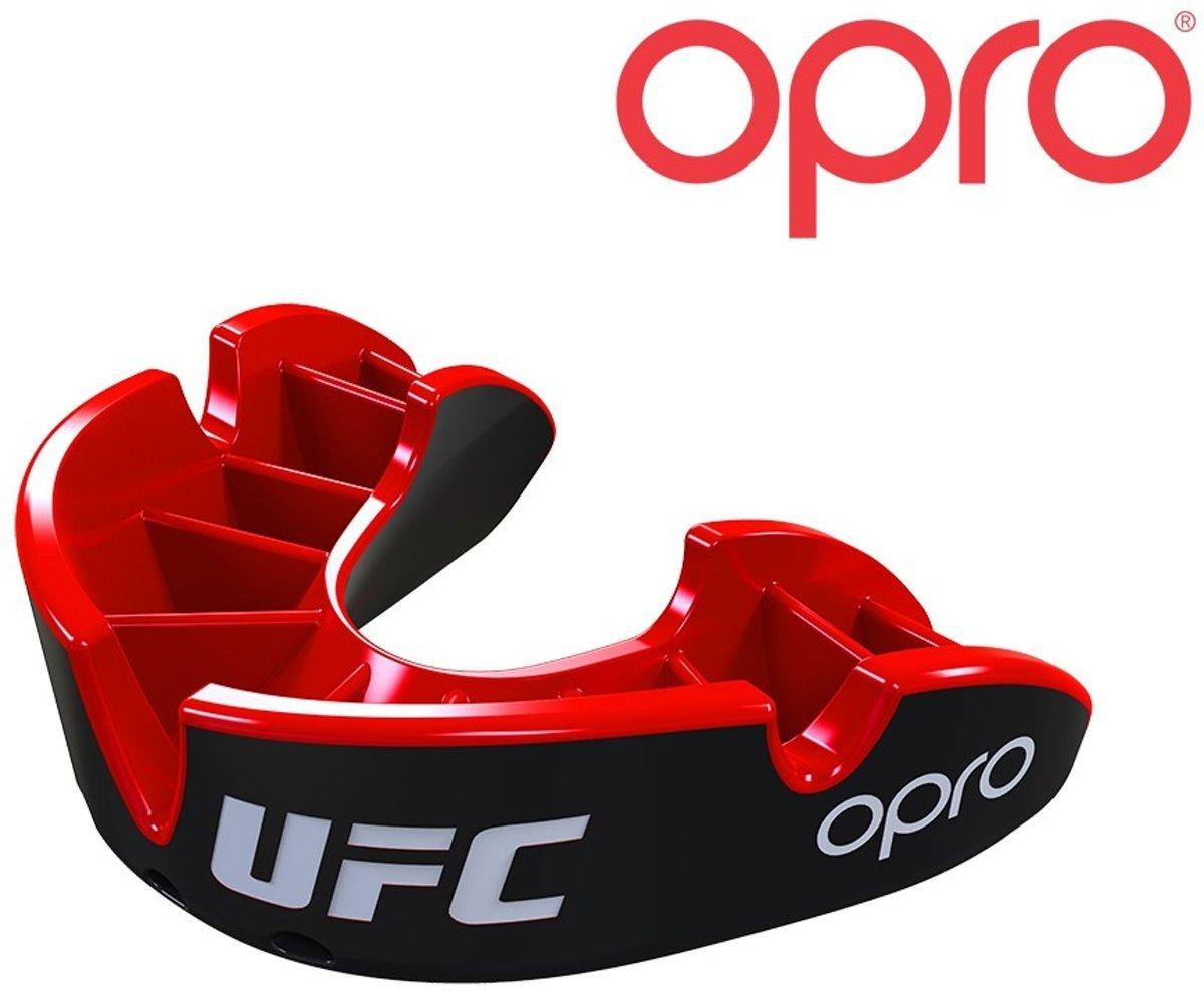 Opro Gebitsbeschermer Silver UFC Zwart/Rood Junior kopen