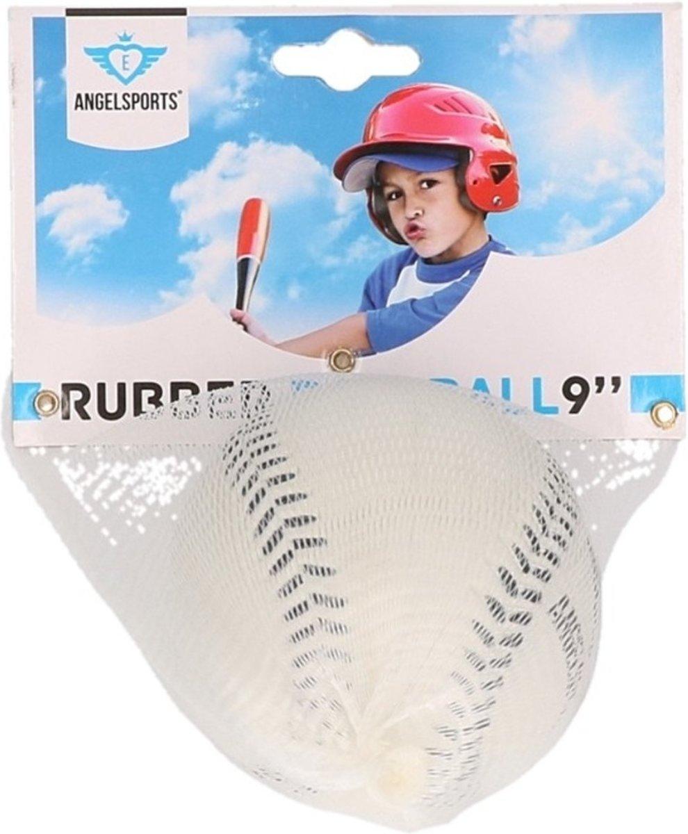 Rubberen honkbal  wit kopen