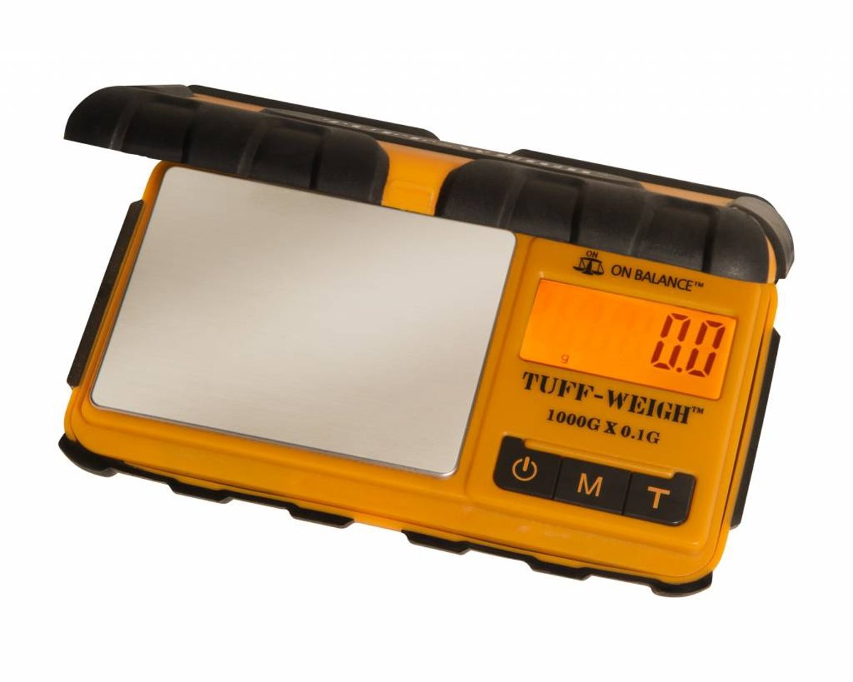 Tuff-Weigh Oranje / Zwart Digitale Precisie Weegschaal 0.1 tot 1000 Gram Nauwkeurig