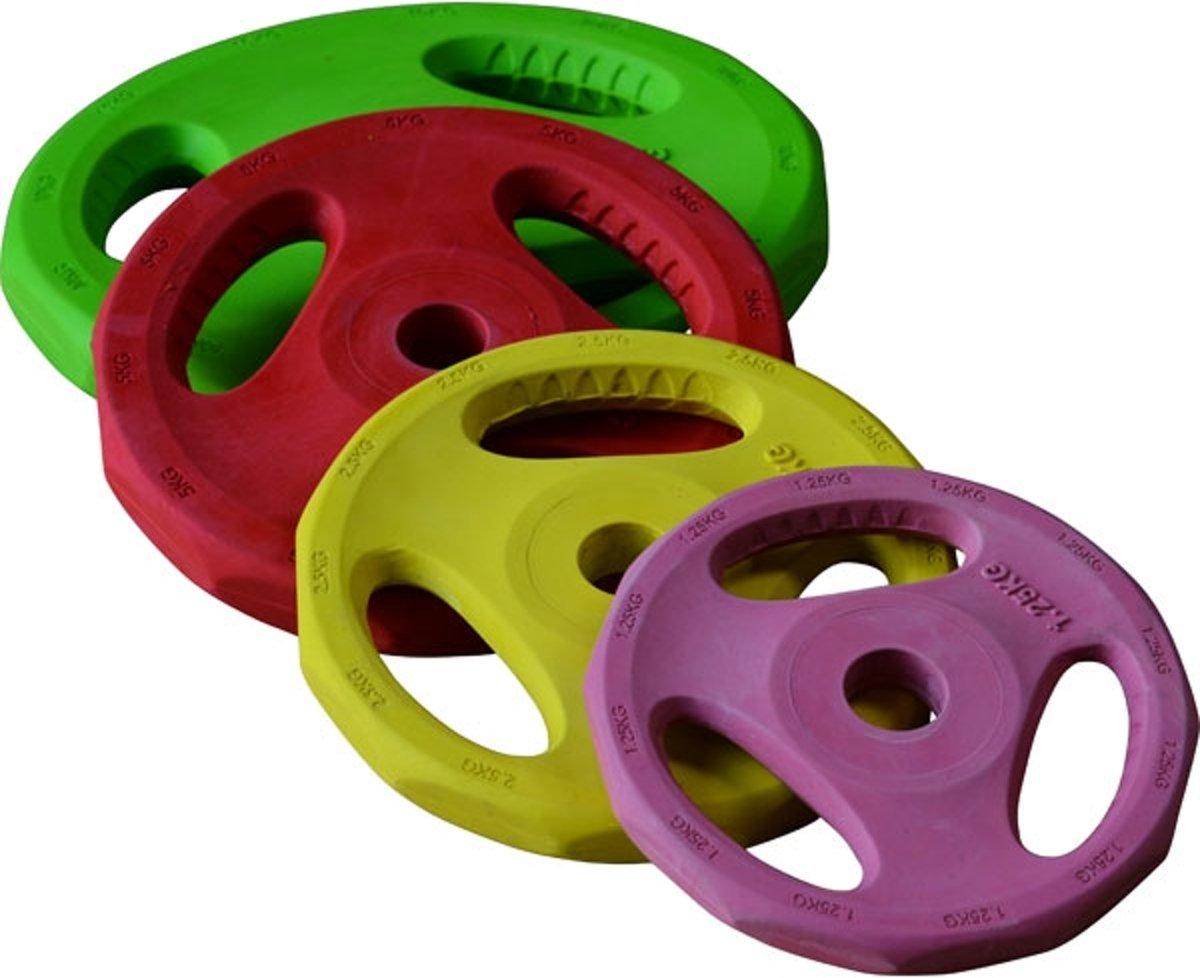 RS Sports Aerobic Halterschijf - Bodypumpschijf 5 kg - Ø 30 mm - rood kopen