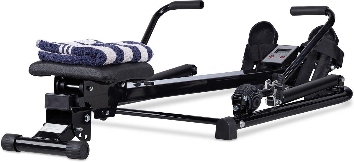 relaxdays roeitrainer - roeimachine - fitnessapparaat - opklapbaar - fitness roeiapparaat kopen