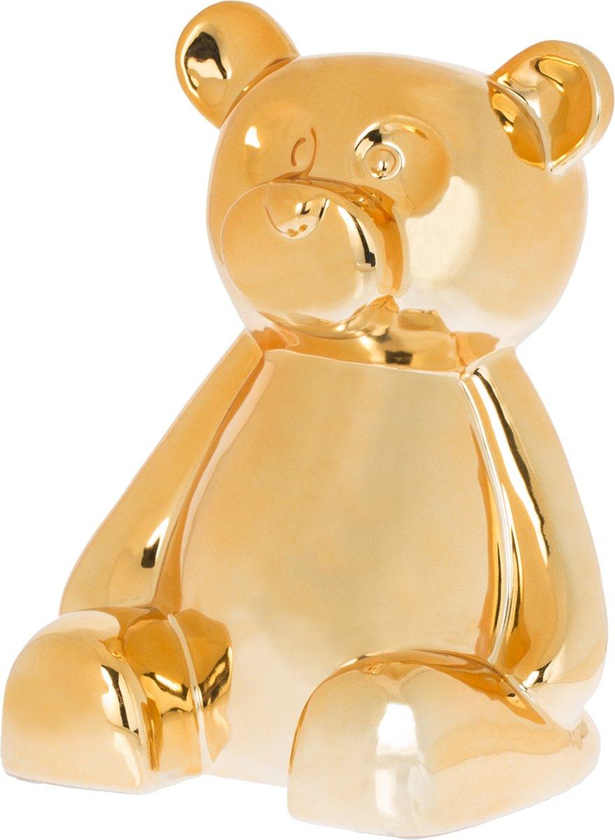 Riverdale Spaarpot Bear goud 21cm