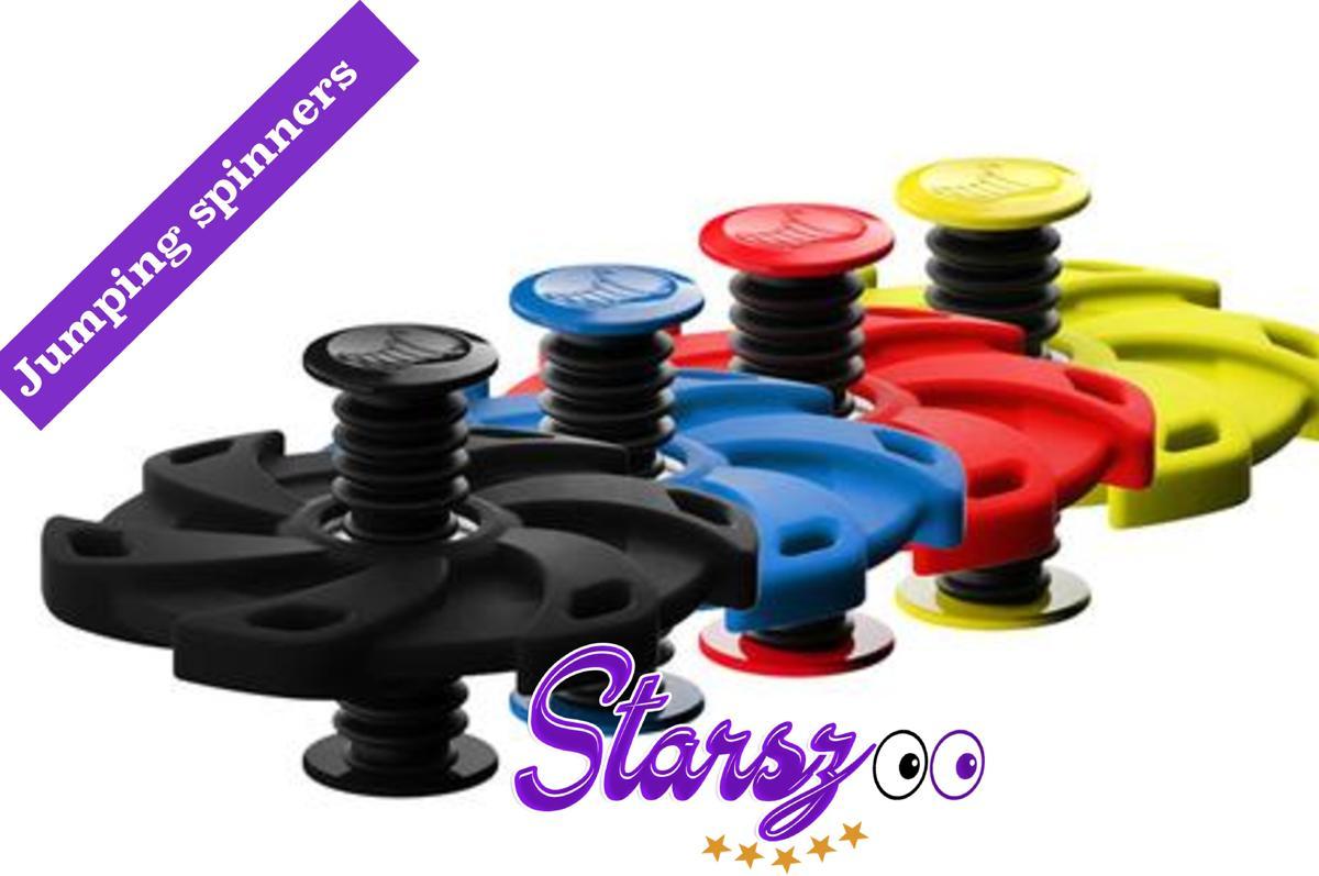 2 x Rubber  Fidget Jumping Flip Spinner - Bouncing assorti kleuren nieuwe Trend anti break rubber))