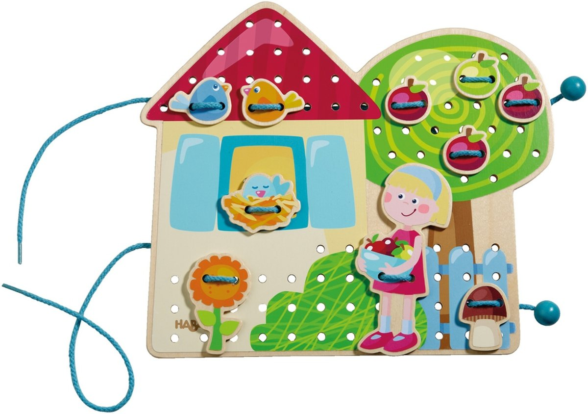 Haba Rijgspel Peuterspeelgoed Tina's speelhuisje