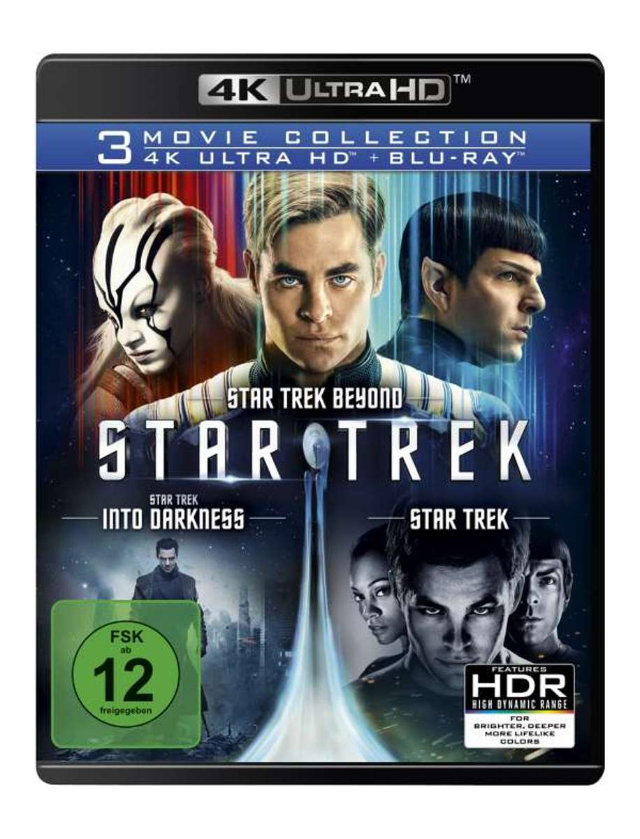 Star Trek: Three Movie Collection (Ultra HD Blu-ray & Blu-ray)-