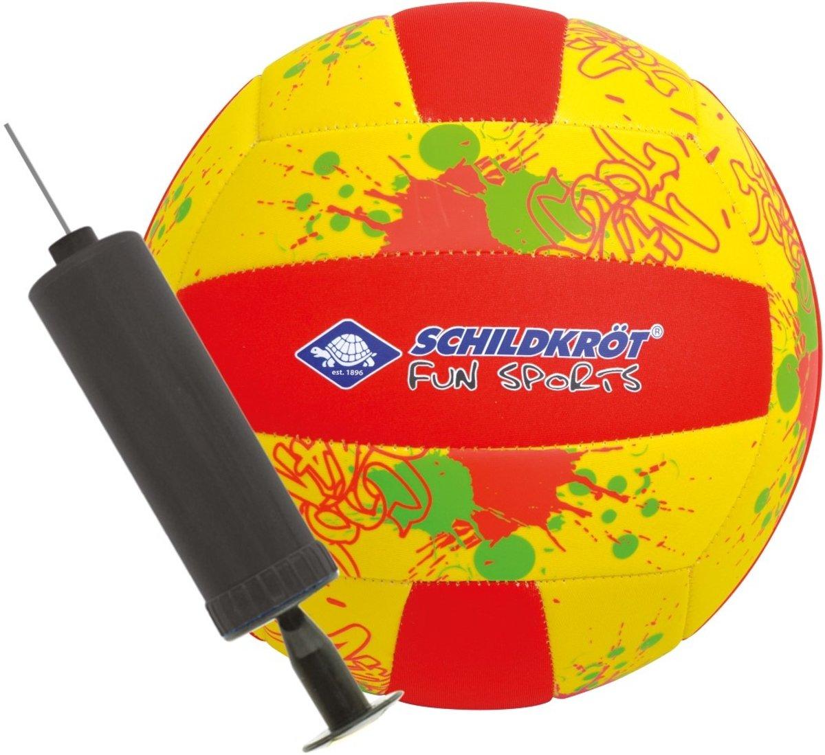 Donic Schildkröt Beachvolleybal Met Pomp Maat 5 Geel/rood kopen
