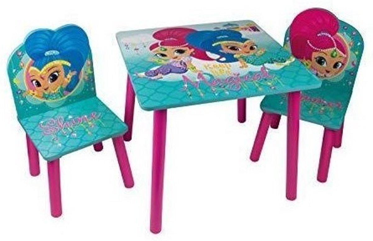 Nickelodeon Shimmer En Shine Houten Tafel Met Stoelen Blauw