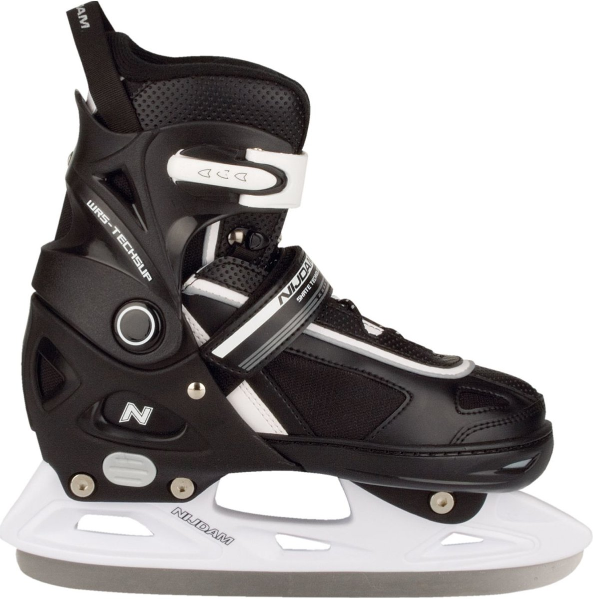 Nijdam 3170 Junior IJshockeyschaats - Verstelbaar - Semi-Softboot - Zwart - Maat 37-40 kopen