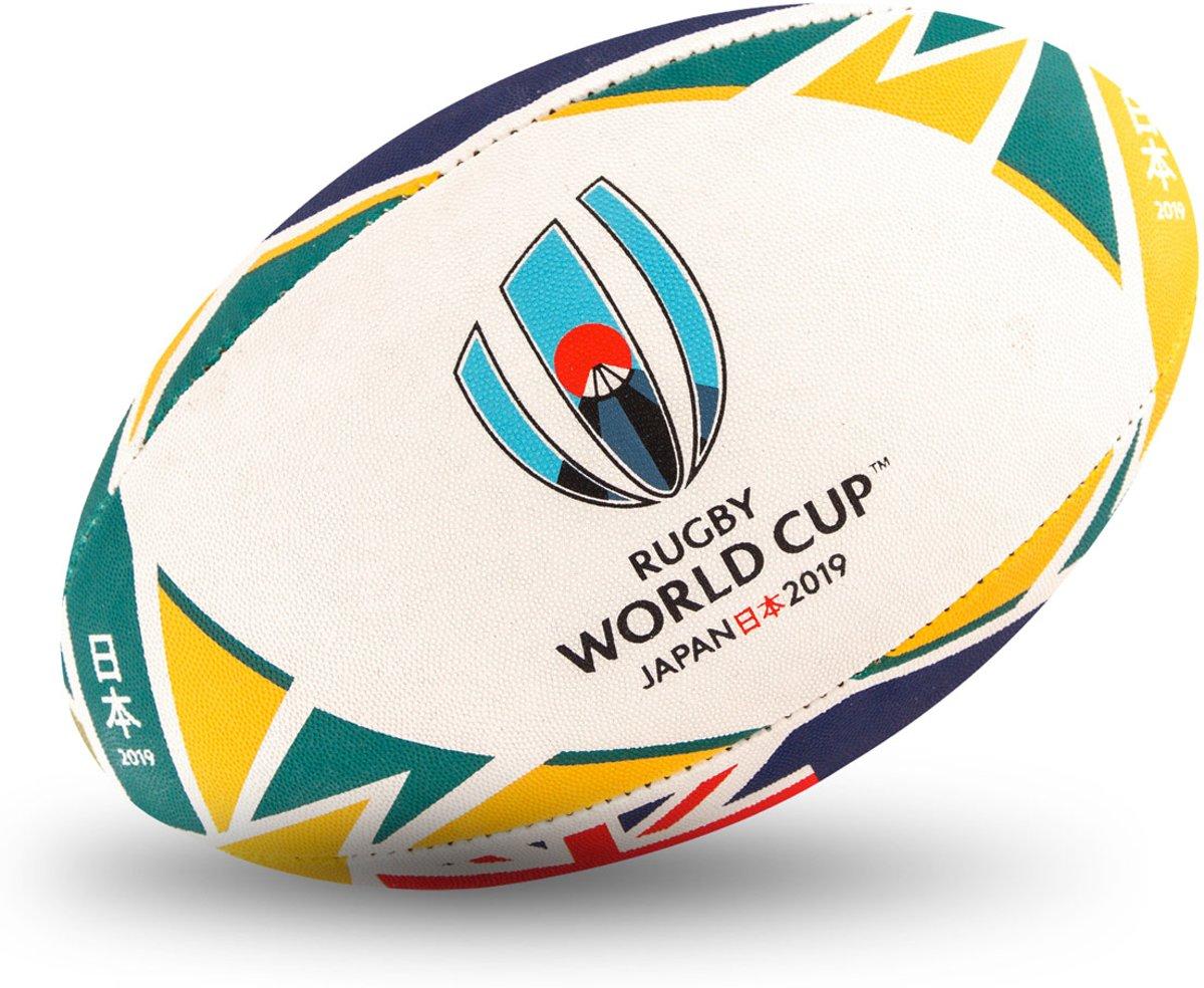 Gilbert Official World Cup 2019 Australia flag rugbybal maat 5 kopen