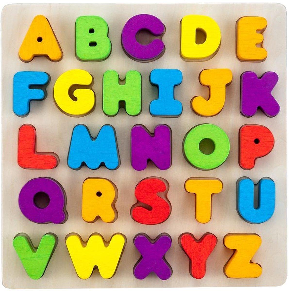 Alphabet puzzle 30 x 30 cm rubber wood