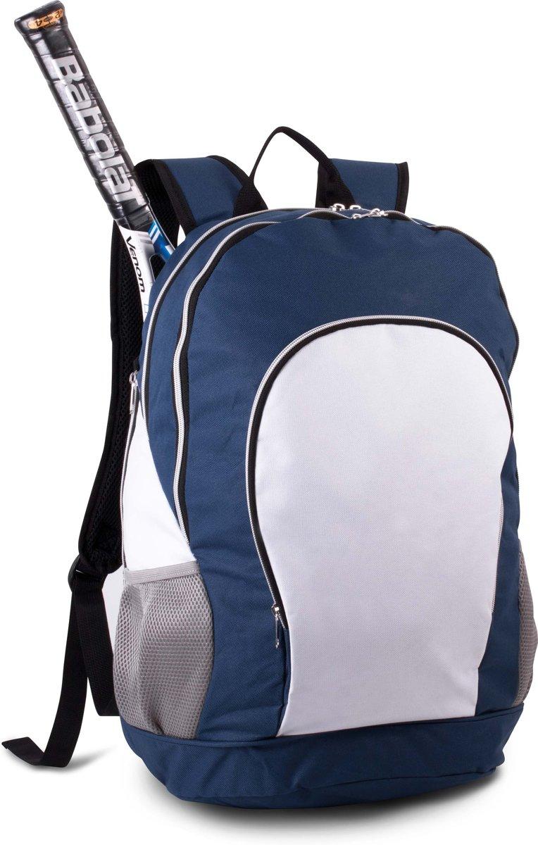 Tennis rugzak – handige zijvakken – blauw kopen