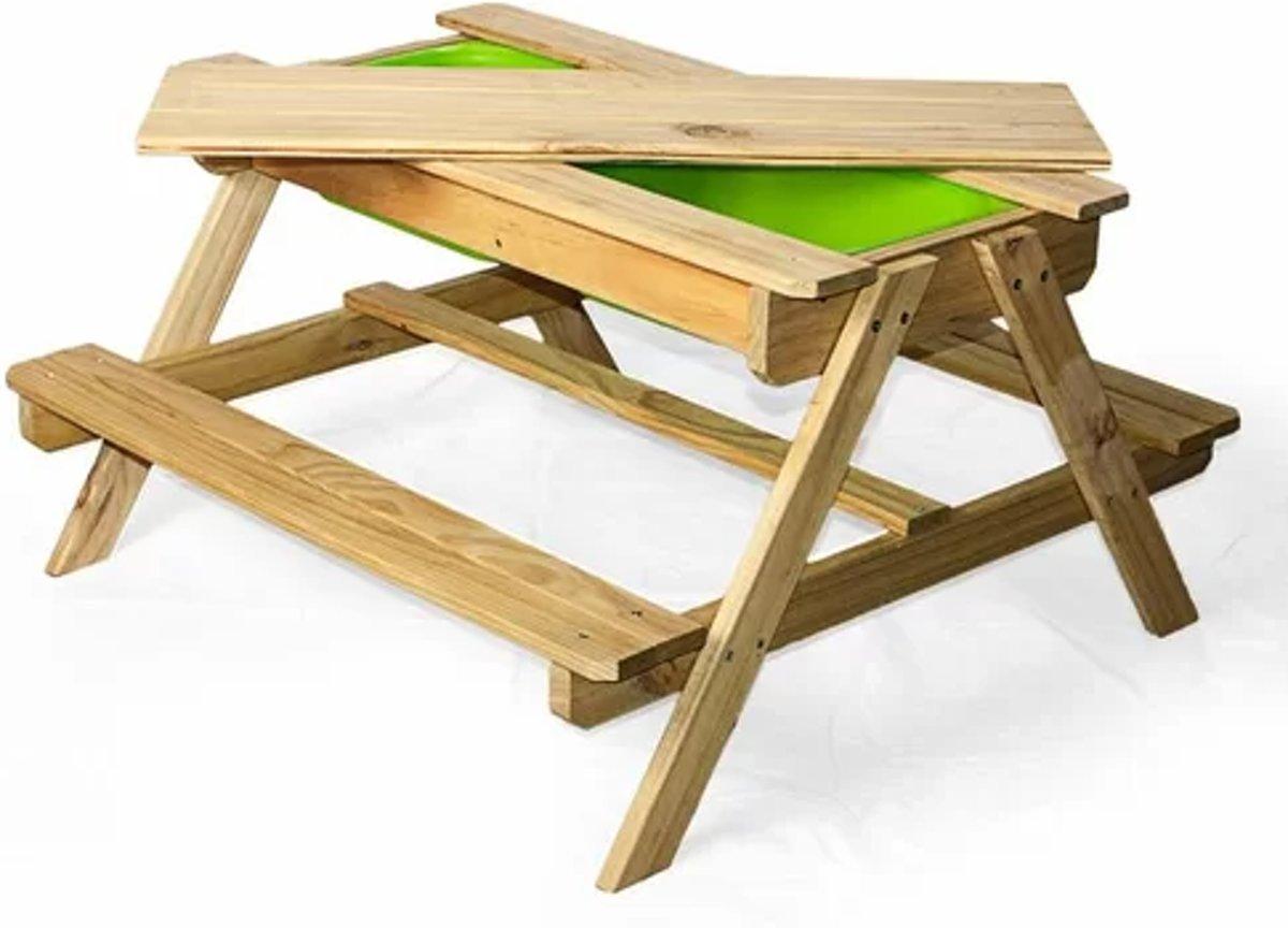 MaxxGarden Zand- en Watertafel - Picknicktafel Hout - 90x90x50 cm