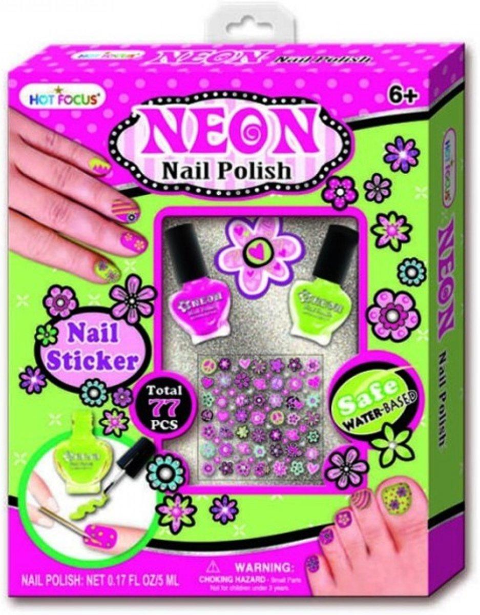 bol.com | Neon Nagellak + Nagel stickers, VerraXL | Speelgoed