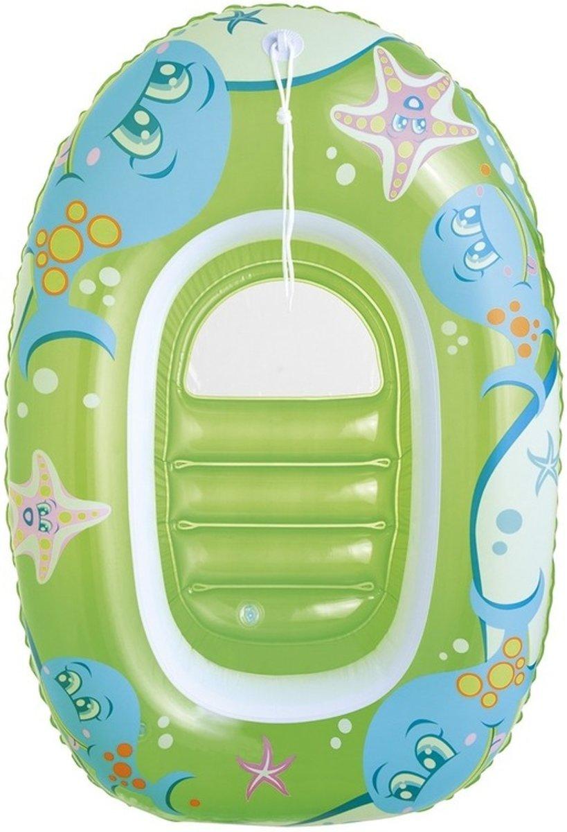 Groene mini opblaasbare boot 102x69cm