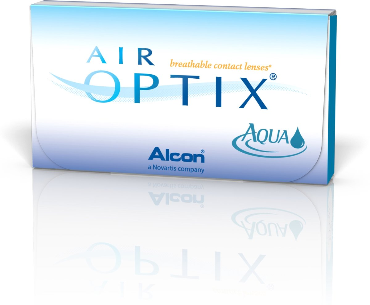 Foto van -0,25 Air Optix Aqua - 6 pack - Maandlenzen - Contactlenzen
