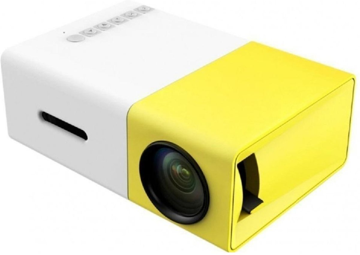 Mini Beamer Projector Mobile Mini Full HD Yellow White kopen