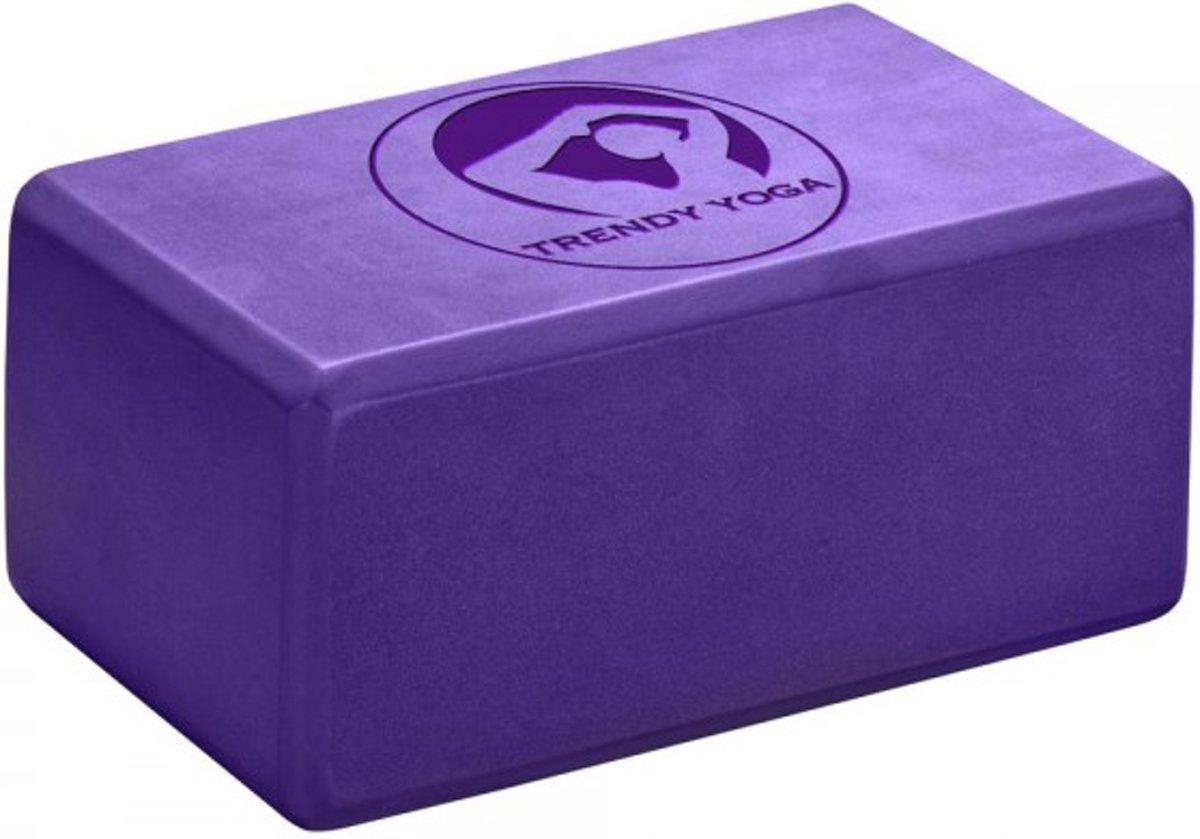 Trendy Sport Yoga blok - Yogablok - Yoga Block -  23 cm lang - 15 cm breed - 10 cm dik - Paars kopen