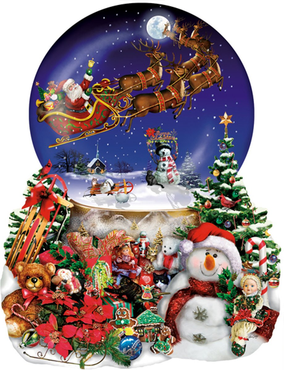 SunsOut shaped legpuzzel Santa's Snowy Ride kopen