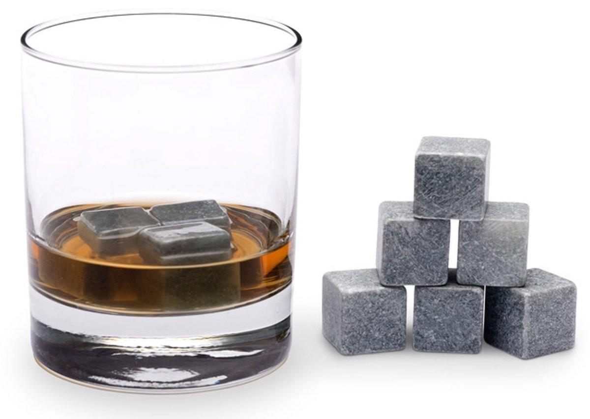 Whiskey Stones - Ijsblokjes  - Natuursteen - Set van 9 stuks - kopen