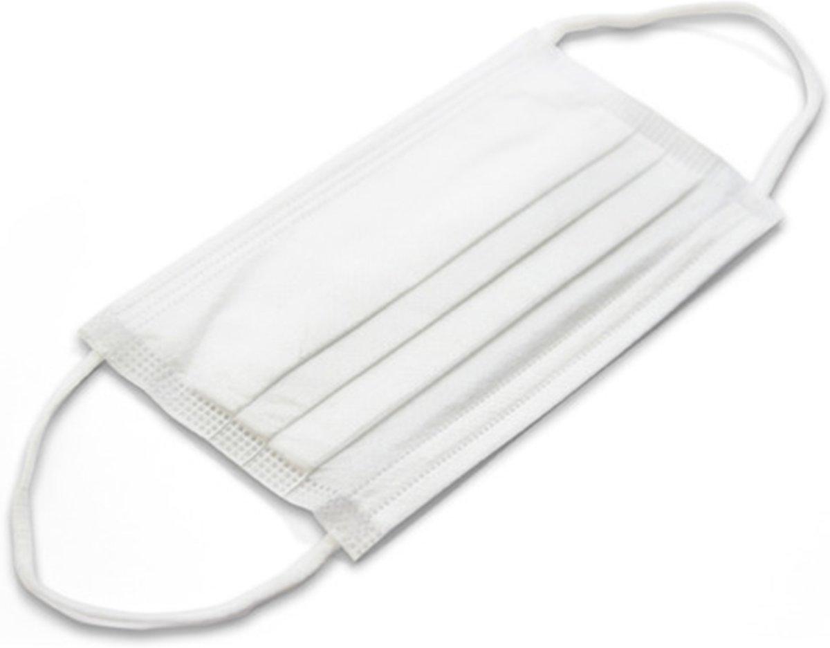 Mondkapjes medisch - met elastiek – wegwerp – 50 stuks - 3 laags - FaceMaskGreenNature
