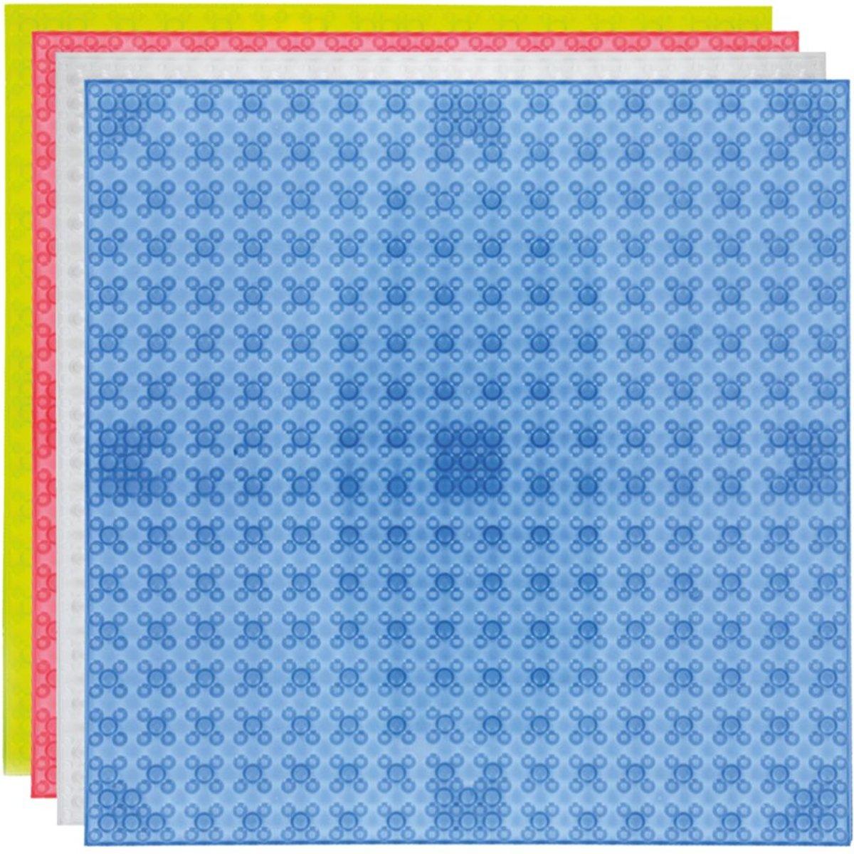 Strictly BRIKS LBPM324C4 Bouwplaat 32x32 vier Transparante Kleuren