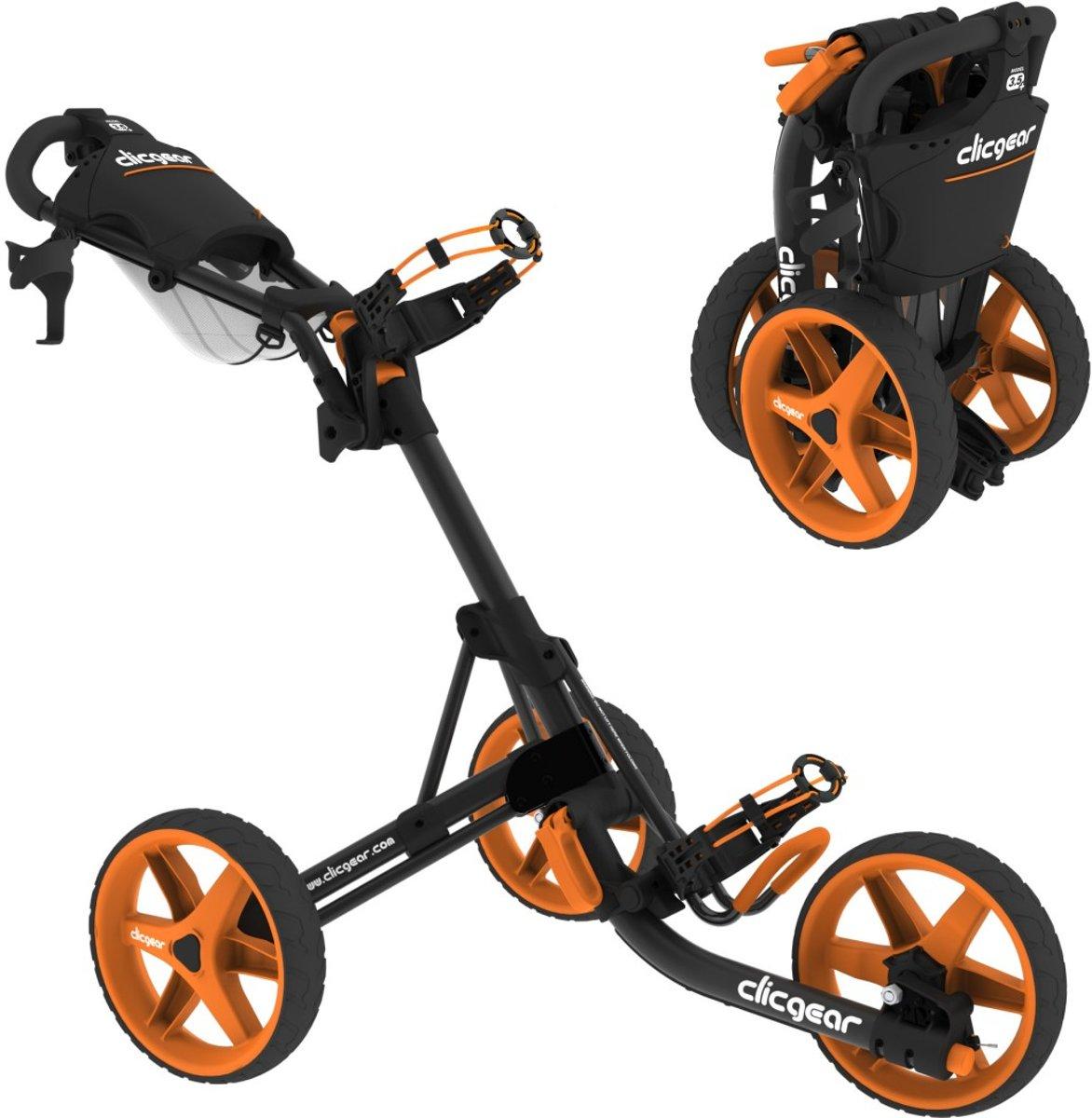 Clicgear trolley 3.5 - golftrolley - charcoal/oranje kopen