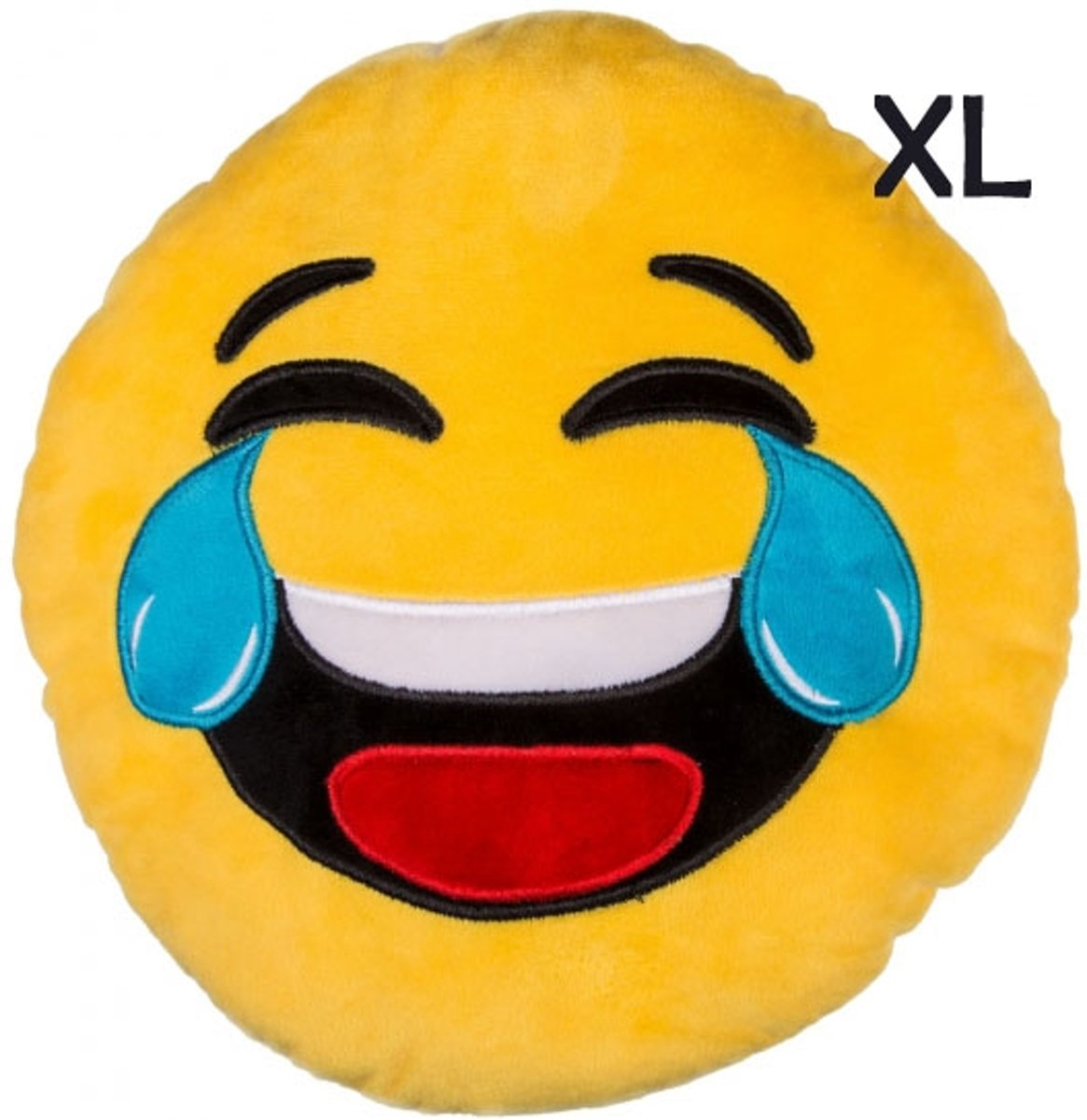 "Emoji - Emoticon - Smiley - kussen - XL - ""Lol"" kopen"