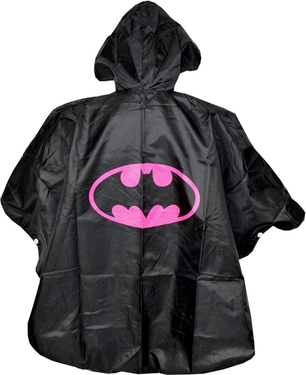 Regen poncho Kinderen | Batgirl | 3-6 jr | poncho zwart roze | SP05 kopen