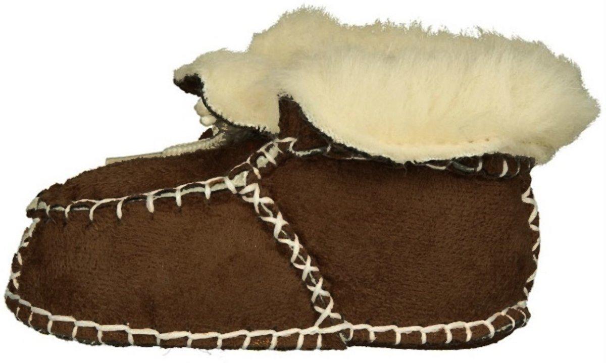 Playshoes babyslofjes veters donkerbruin kopen
