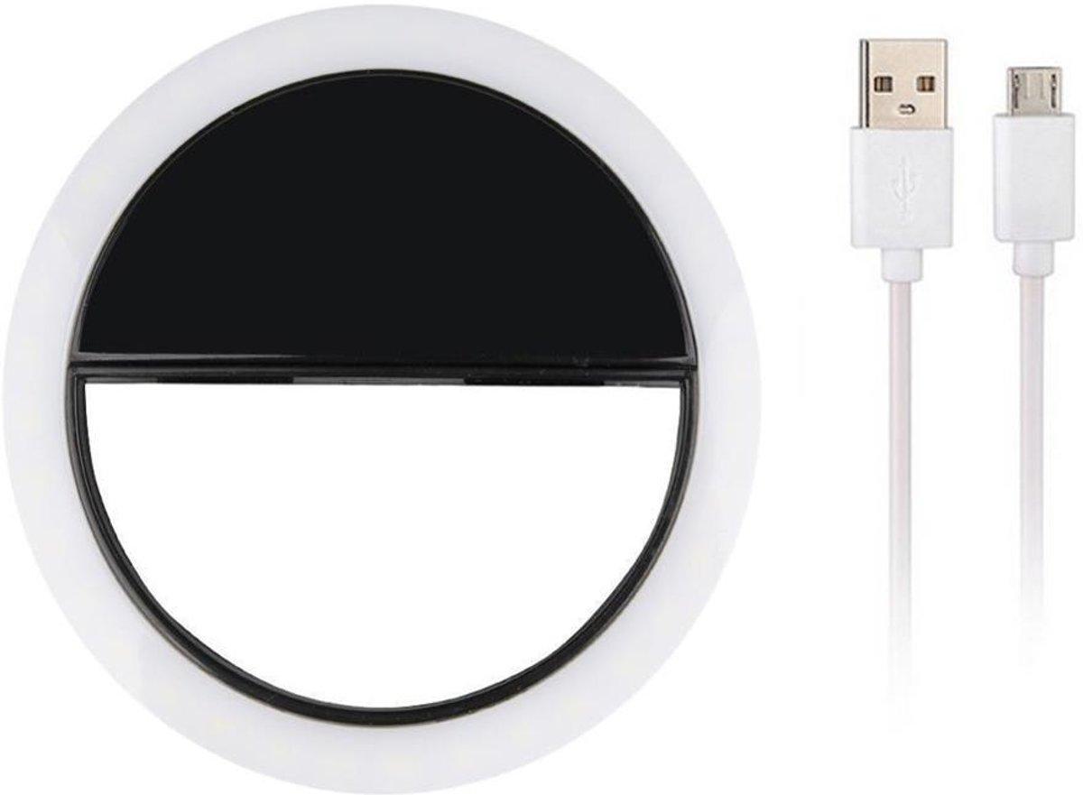 Selfie Ring Light Clip - Led Lamp - Zwart