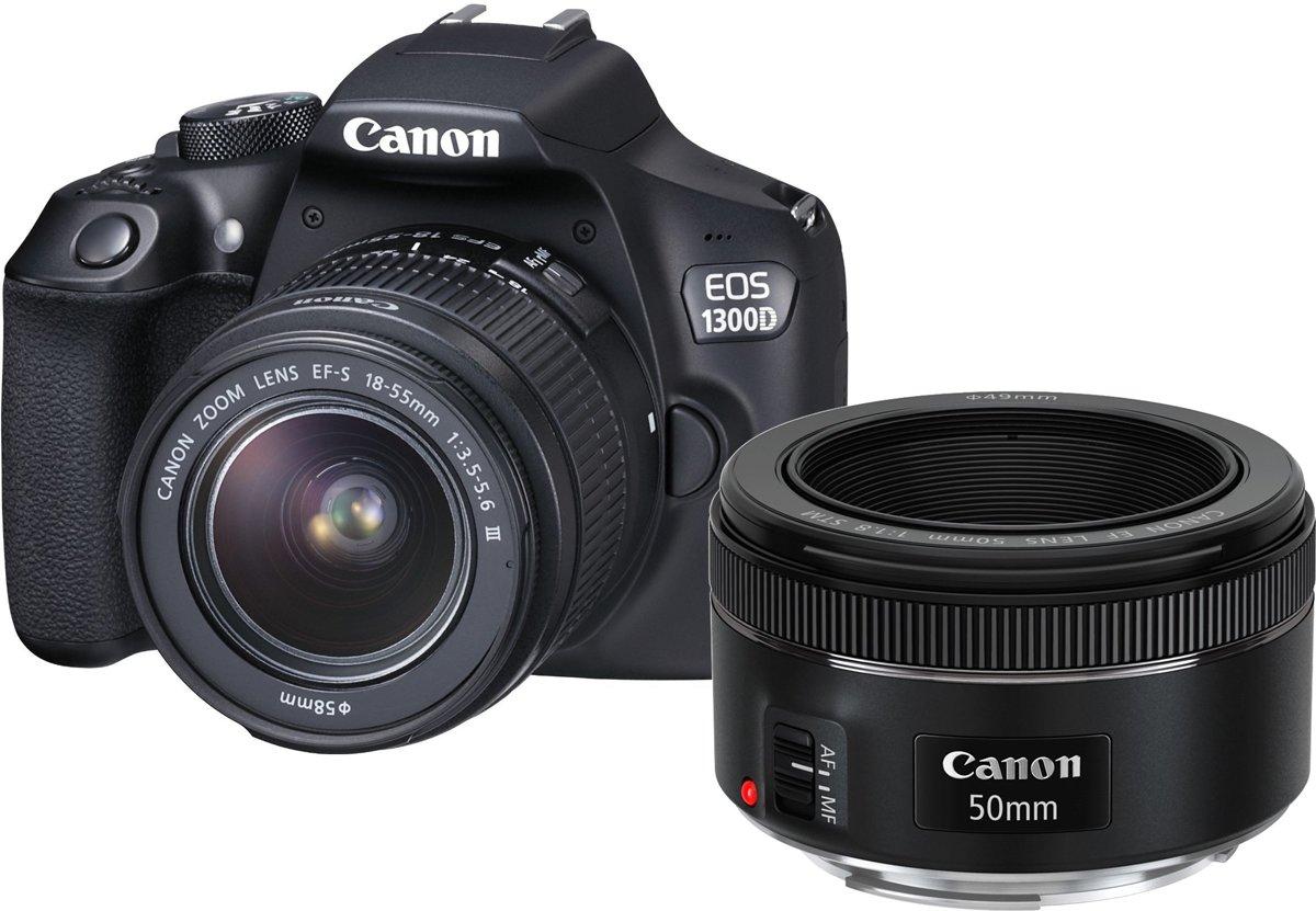 Canon Eos 1300d 18 55 Dc Iii 50mm Stm Kamera