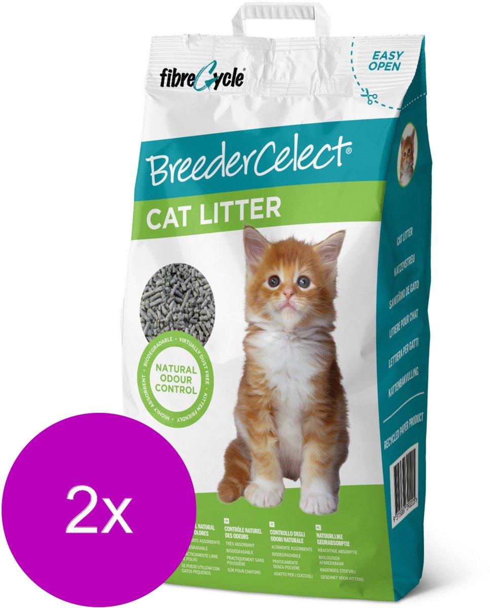 Breedercelect Kattenbakvulling 100 Procent Recycled - Kattenbakvulling - 2 x 20 l kopen
