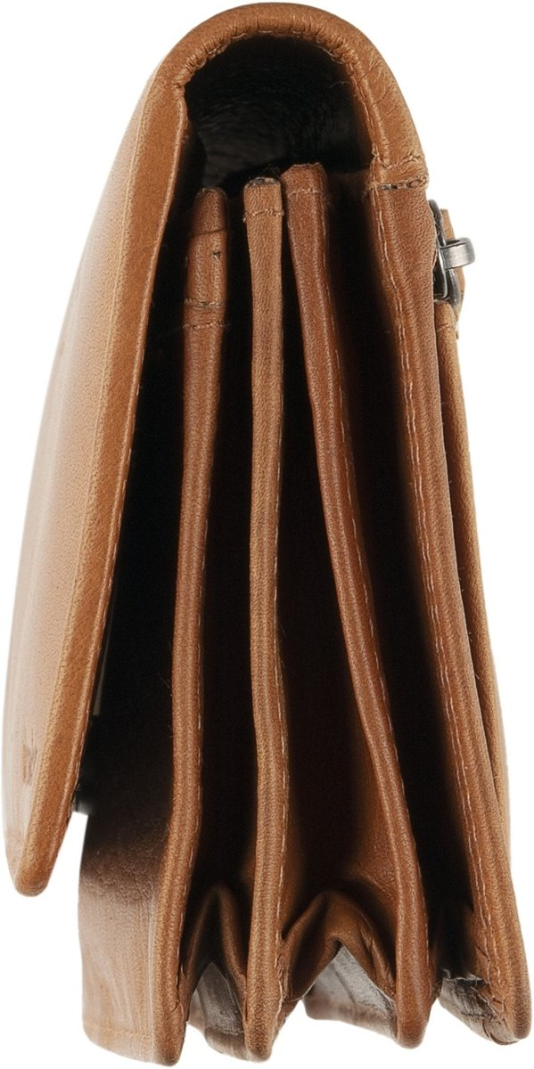 34de7d26dcb bol.com | DSTRCT Wax Lane - Dames Portemonnee - RFID - cognac