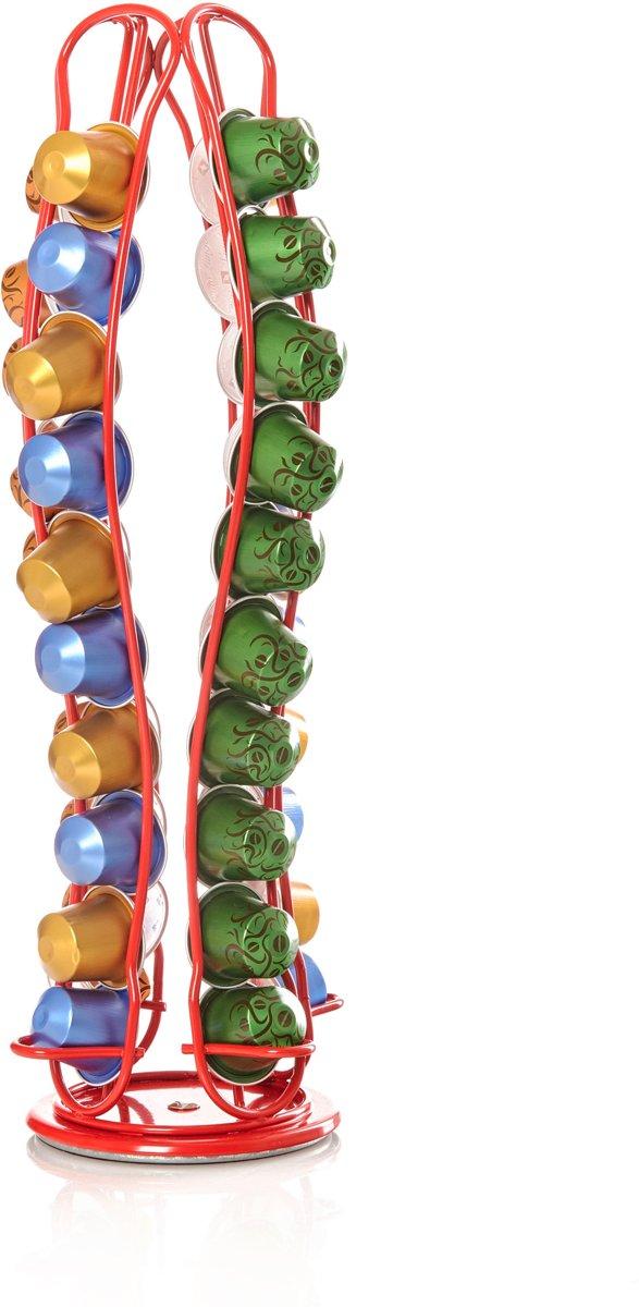Lumaland - Capsulehouder - draaibaar - 40 stuks - Gebogen Rood kopen