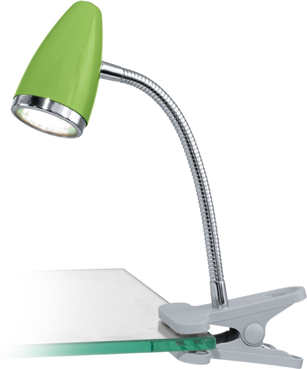 EGLO Riccio 1 Klemspot - 1 Lichts - Zilver, Chroom - Groen kopen
