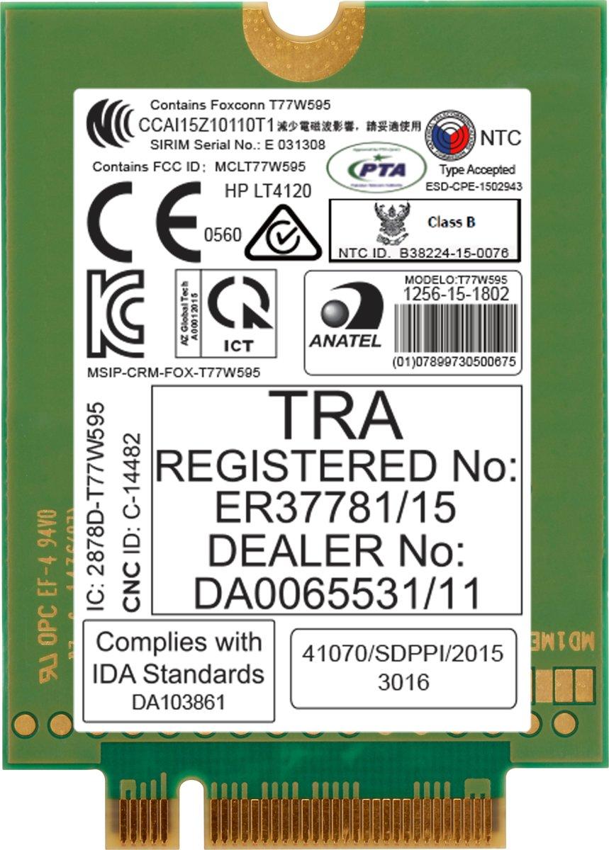 HP lt4120 LTE/EV-DO/HSPA+ WWAN uitrusting voor draadloos mobiel netwerk kopen