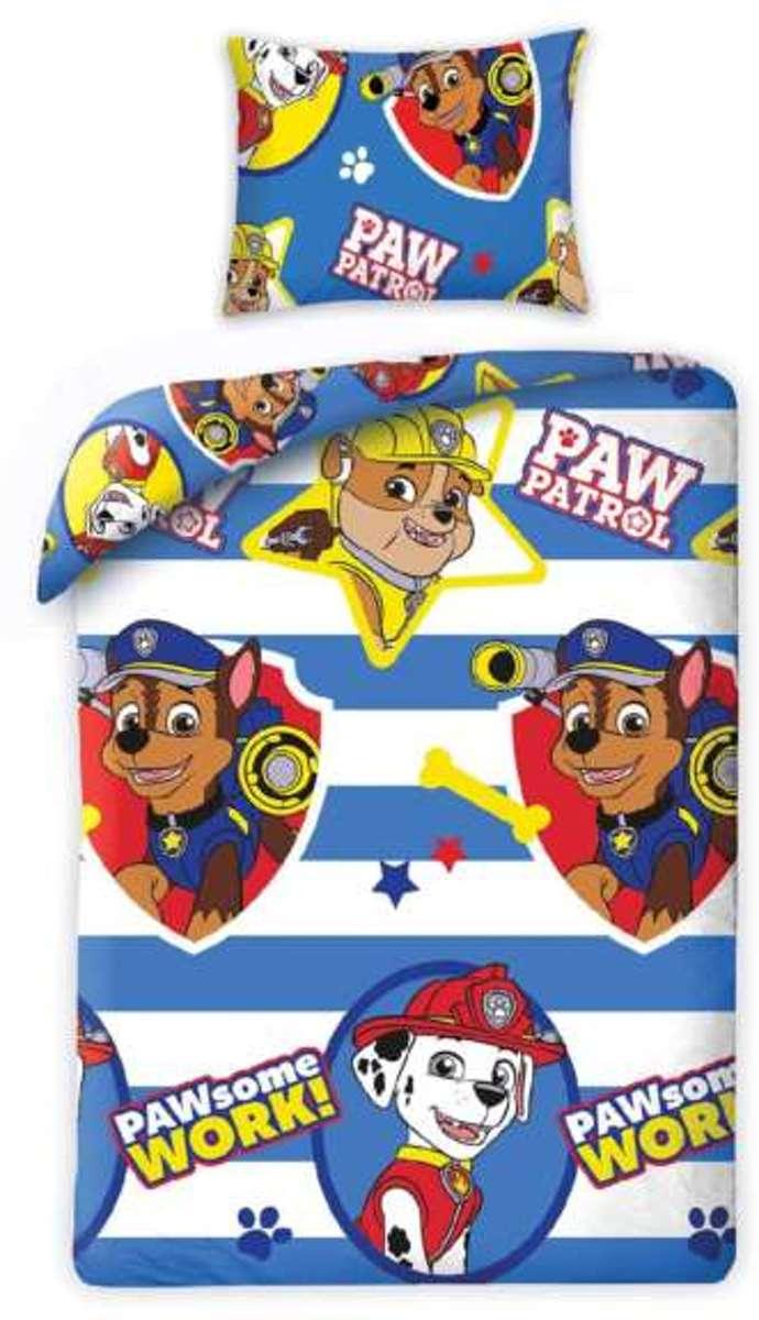 Paw Patrol Dekbedovertrek  - Pawsome - eenpersoons met kussensloop - 100% katoen kopen