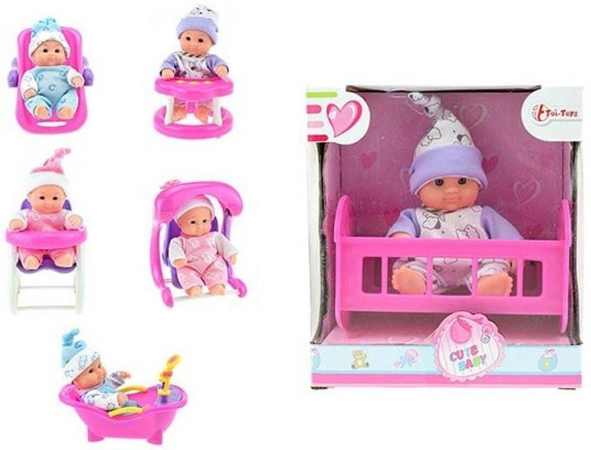 Toi Toys Babypop in stoel 17x15x10cm