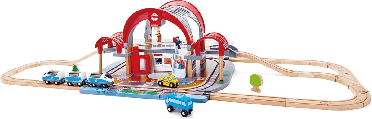 Hape Treinset Grand City Station 45-delig