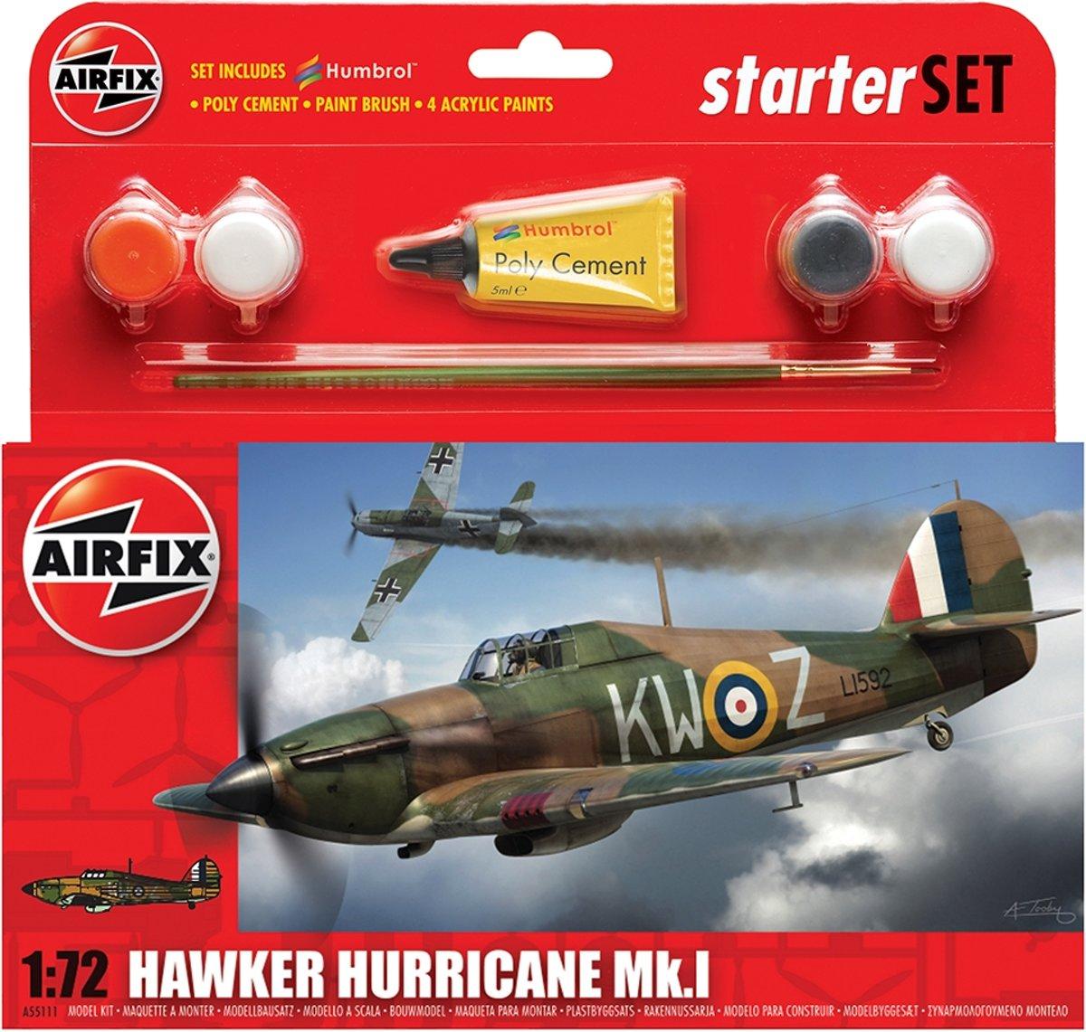 Airfix - S  Starter Set - Hawker Hurricane Mki (Af55111)