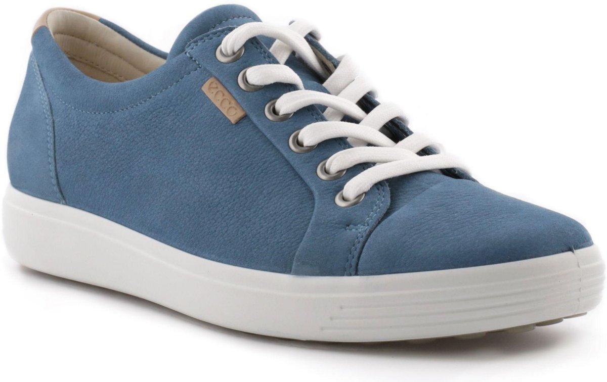 | ECCO Soft 7 dames sneaker Blauw Maat 38